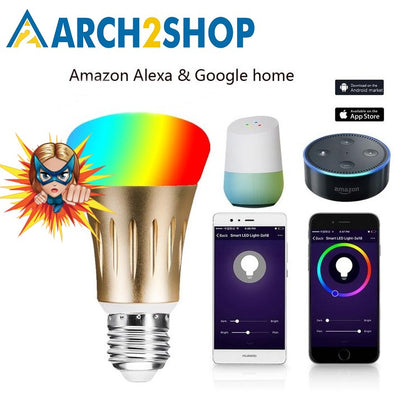 Smart bulb 7W E27 Wifi Works with Amazon Alexa Google Home