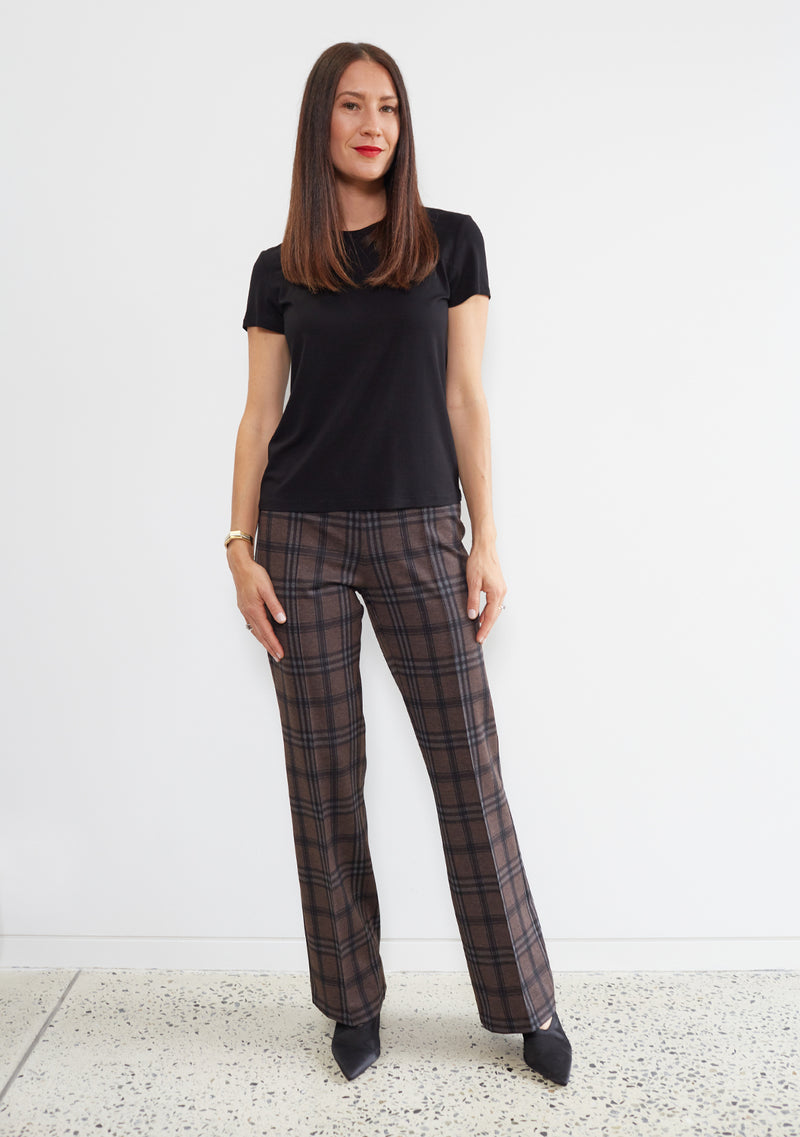 PLAID PINTUCK PANT