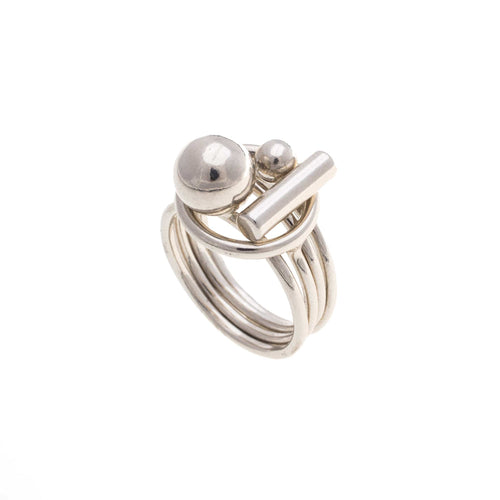 PUZZLE RING (silver)