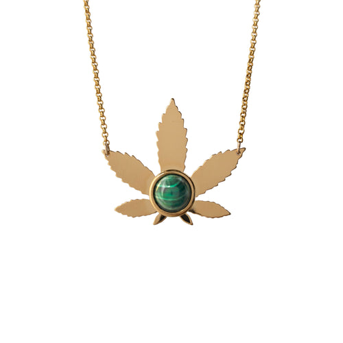 Stoned Sweet Leaf Necklace