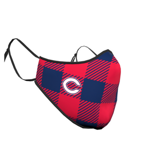 Columbus Checkered C Face Mask