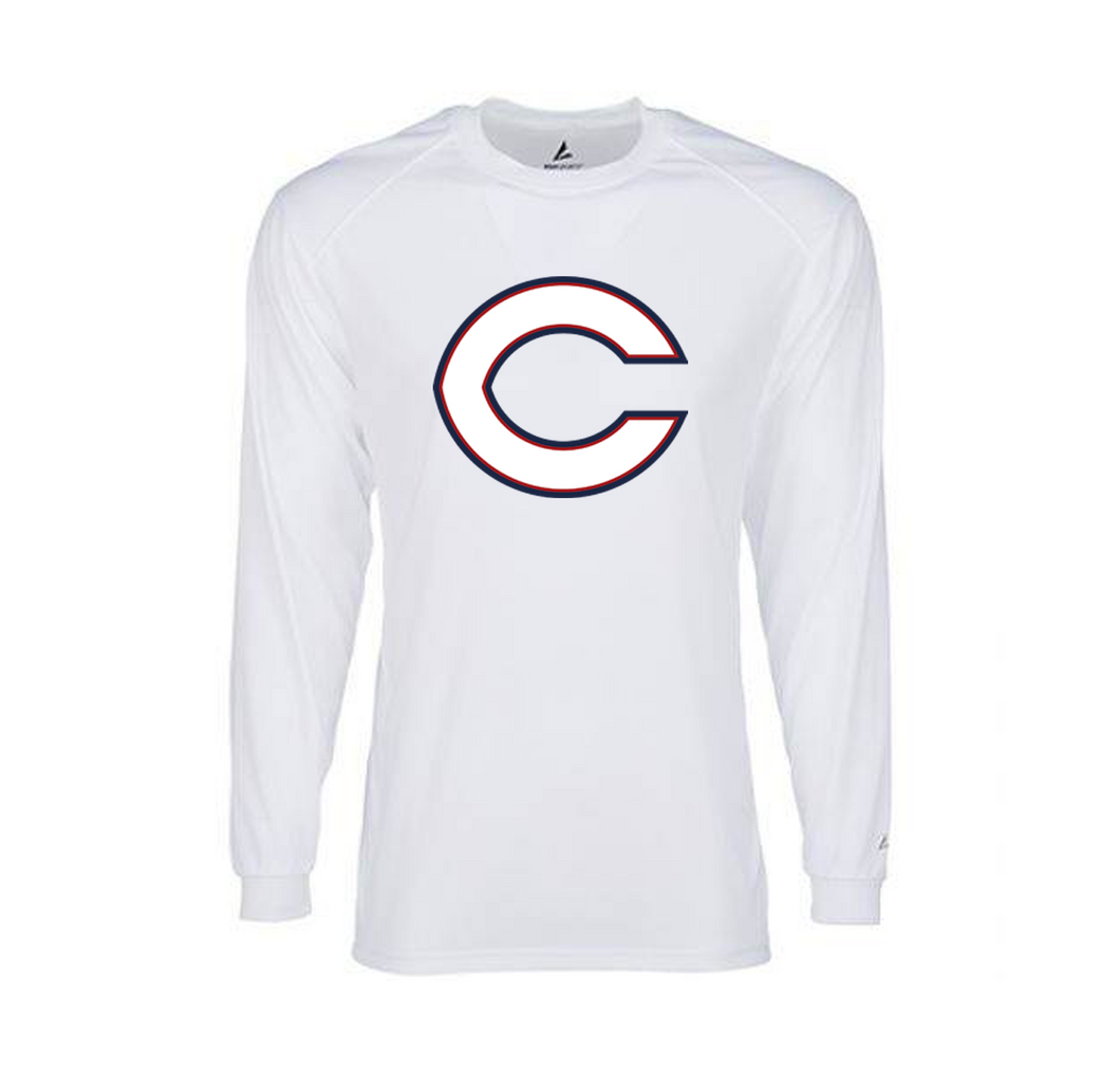 BSN Dri-FIT Mens Long Sleeve (White)