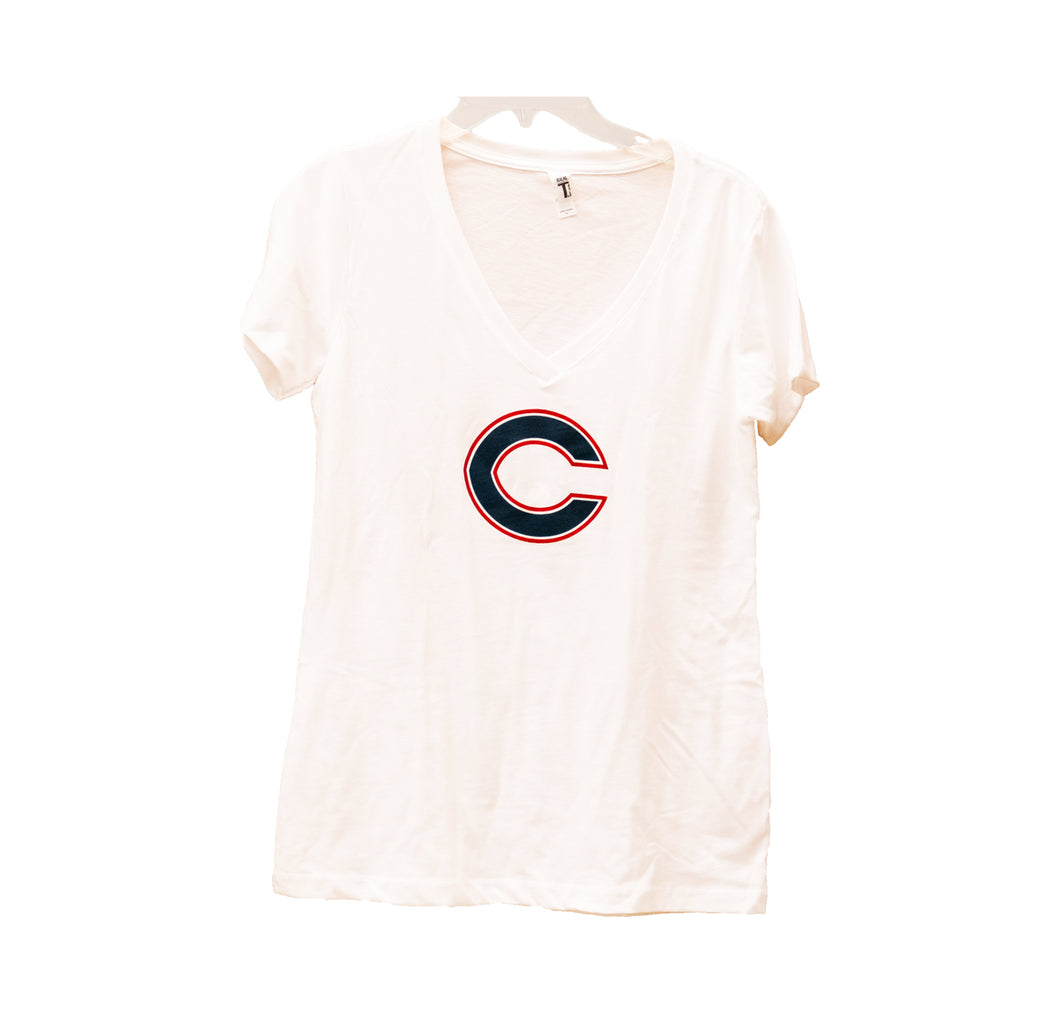 Columbus C Ladies TShirt (White)
