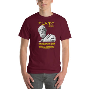 "PLATO  -""Opinion is the medium between knowledge and ignorance""."