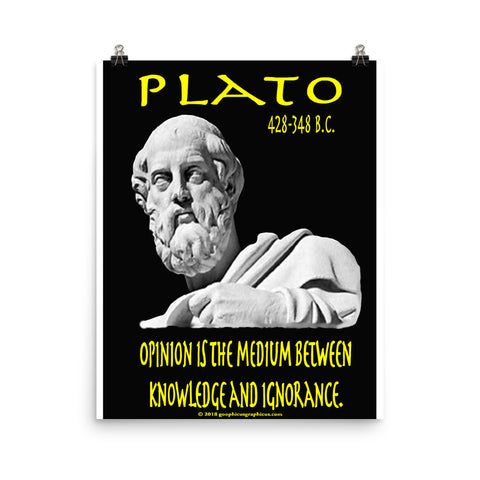 PLATO... Opinion is the medium between knowledge and ignorance.