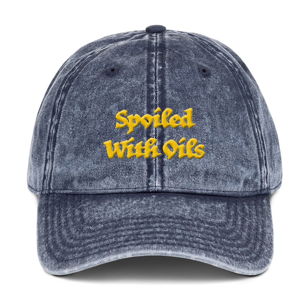 Spoiled With Oils...      Vintage Hat
