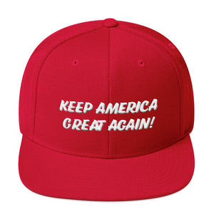 KEEP AMERICA GREAT AGAIN (KAGA) #4 3D  Classic Snapback Cap