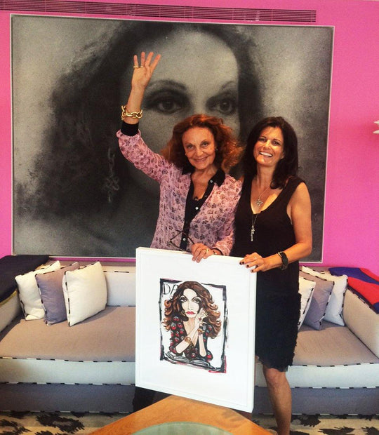 Michelle Vella Meets with Diane von Furstenberg at DVF in NYC - Sept 10, 2015 - MICHELLE VELLA