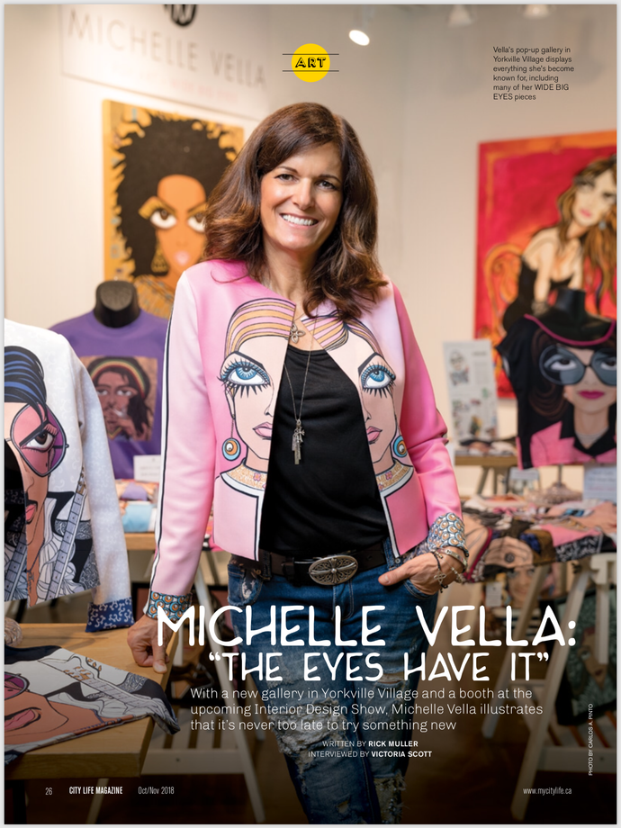 "CITY LIFE MAGAZINE: MICHELLE VELLA: ""THE EYES HAVE IT"""