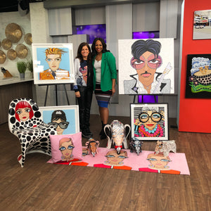 Cityline features Michelle Vella's Wide Big Eyes Popart