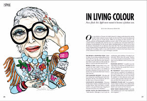 ELLE CANADA - JAN 2017 IN LIVING COLOUR WITH IRIS APFEL