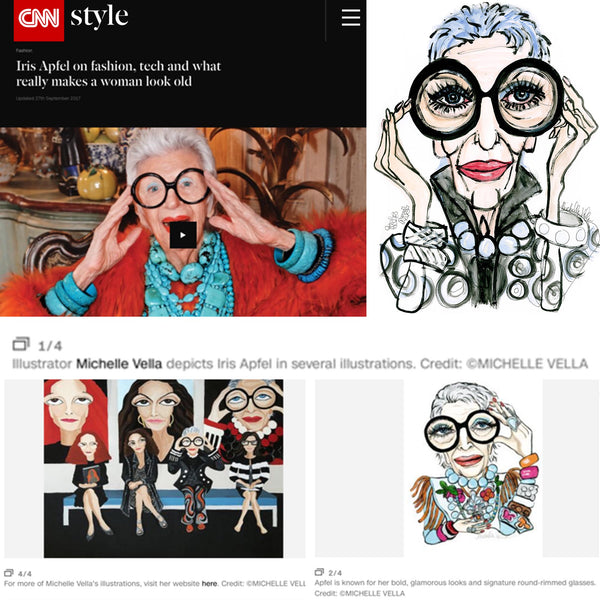 CNN Style - Featuring Michelle Vella's portraits of IRIS APFEL