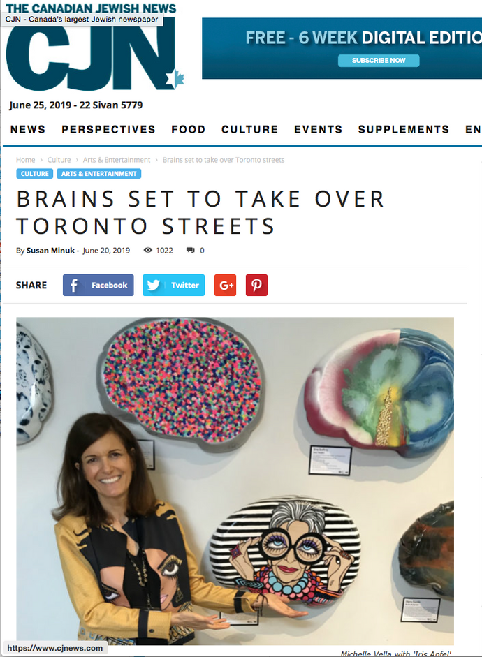 Canadian Jewish News: BRAINS SET TO TAKE OVER TORONTO STREETS By Susan Minuk -  June 20, 2019