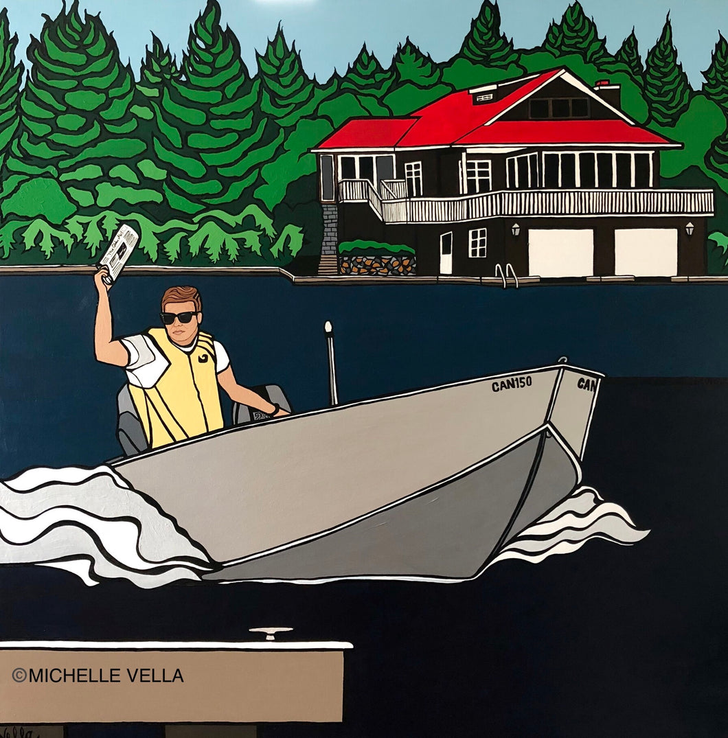 Newspaper Delivery, Lake Style, Limited Edition Print