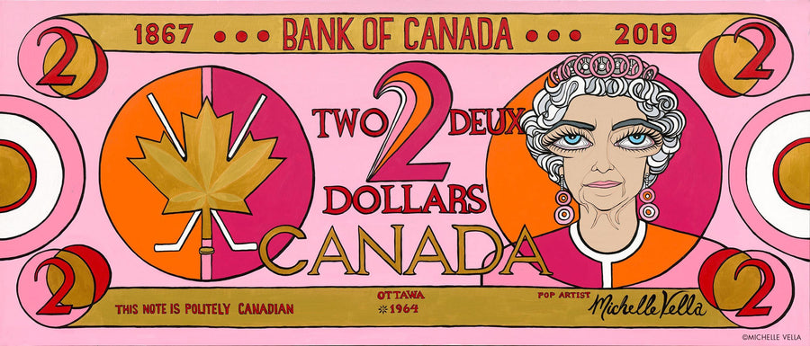 Two Dollar Bill, Canadian, Limited Edition Print