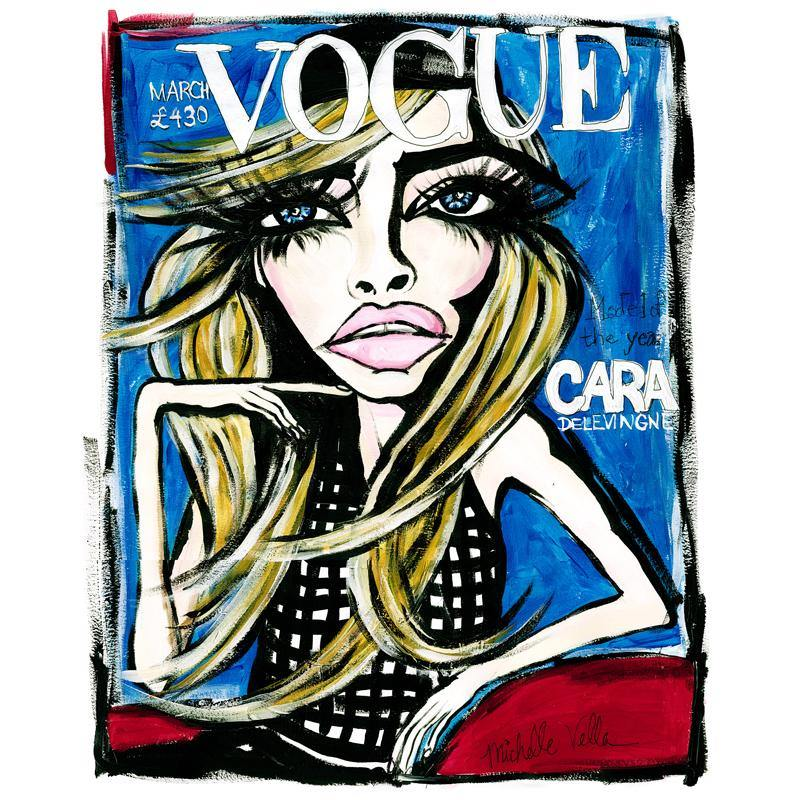 Vogue Cara Delevigne 2015, Limited Edition Print