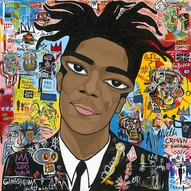 "Jean Michel Basquiat, ""King"", Original Painting"