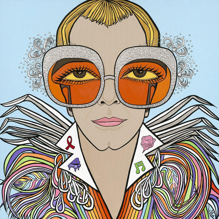 "Elton John, ""Rocketman"", Original Painting Available"