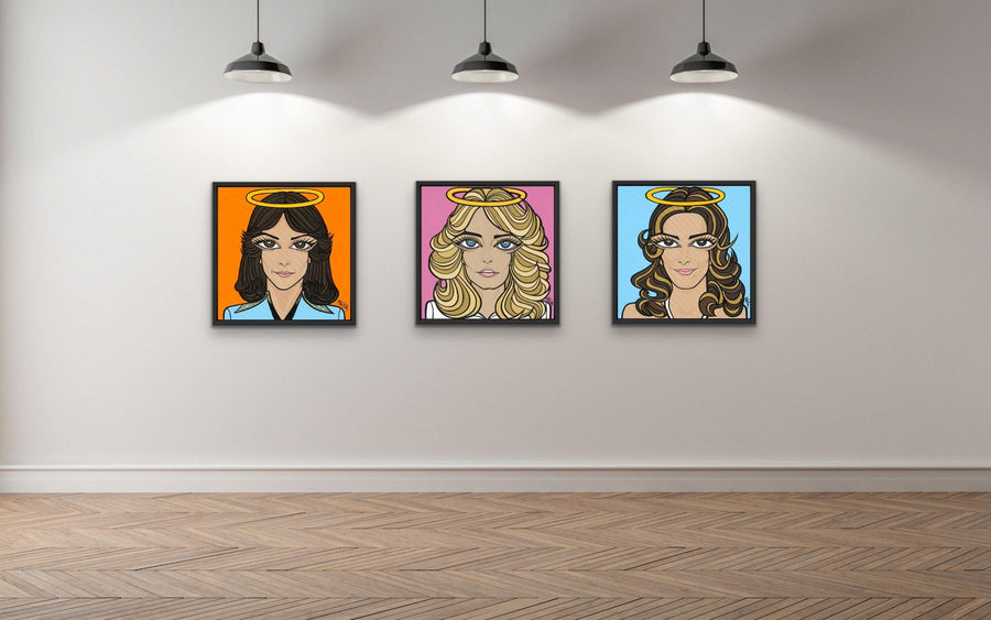 Charlie's Angel's, 3 Portraits, Original Painting