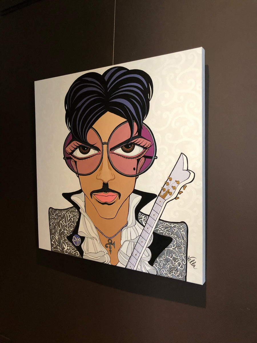"Prince, ""Delirious"", Original Painting Available - MICHELLE VELLA"