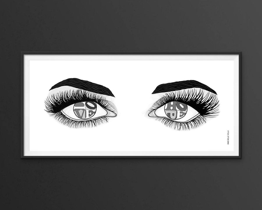Eyes of Hope and Love, B&W, Limited Edition Print