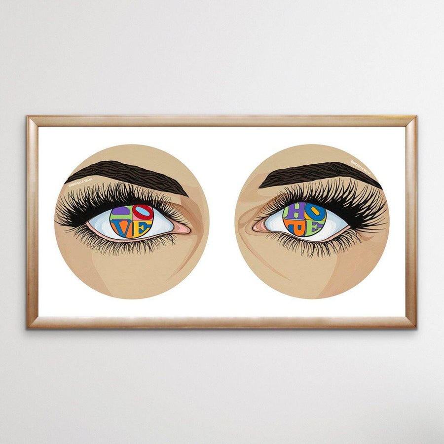 Eyes of Hope and Love, Colour, Limited Edition Print
