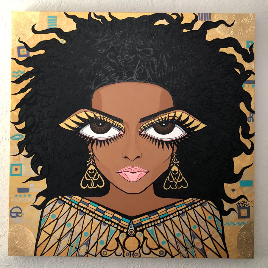 Diana Ross, Woman in Gold, Original painting