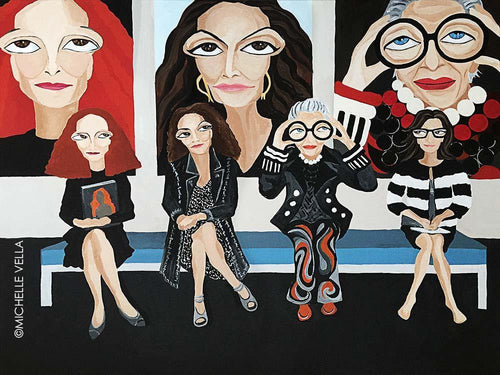 EYES ON FASHION, Original painting