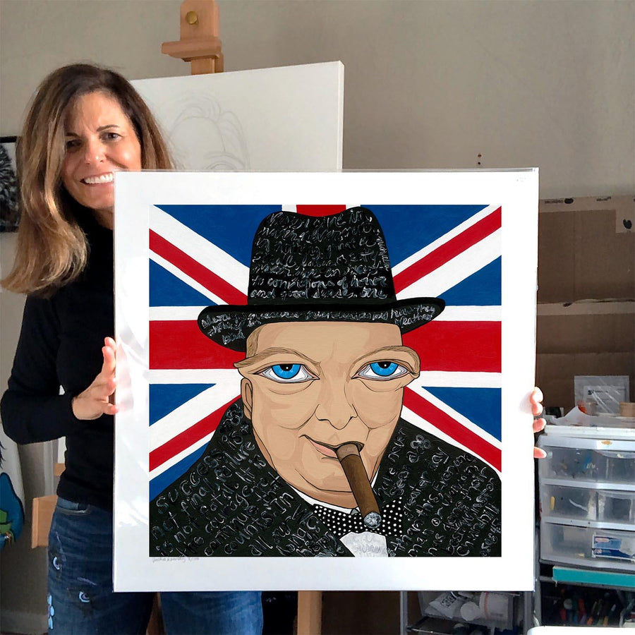Winston Churchill Limited Edition Print - MICHELLE VELLA
