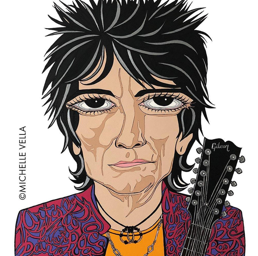 Ronnie Wood, The Rolling Stones, Limited Edition Print - MICHELLE VELLA