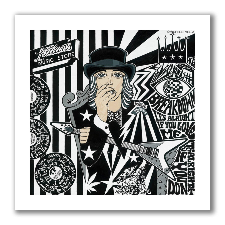 Tom Petty, Limited Edition Print - MICHELLE VELLA
