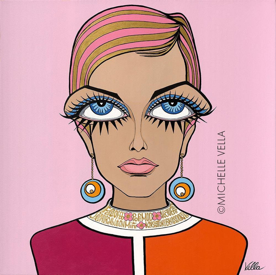 Twiggy 'Pouty Eyes' Limited Edition Print