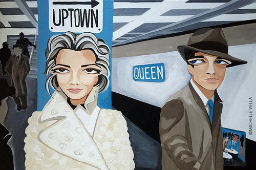 UPTOWN GIRL, Original painting