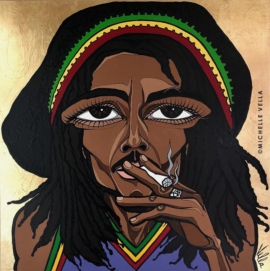 "Bob Marley, ""One Love"", Original Painting"