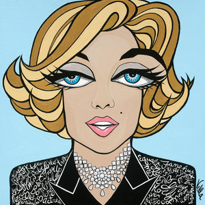 Marilyn on Blue, Limited Edition Print