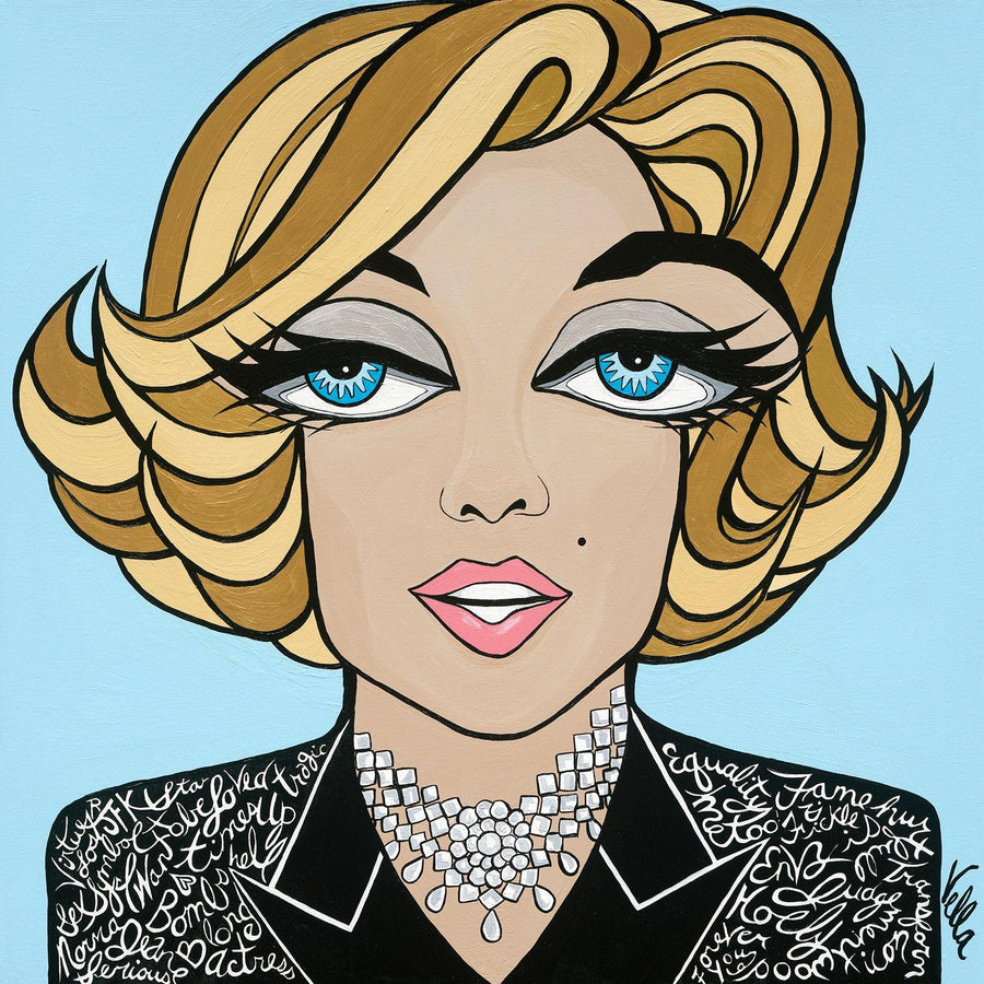Marilyn Monroe on Blue, Limited Edition Print
