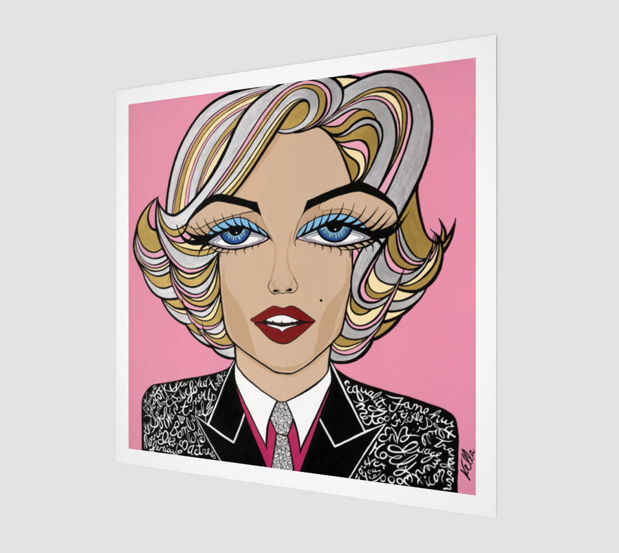 Marilyn on Pink, Limited Edition Print
