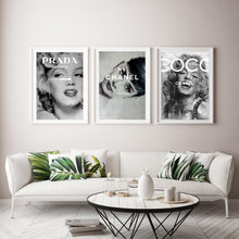 Load image into Gallery viewer, Chanel Prada Marilyn Monroe and Audrey Hepburn print set