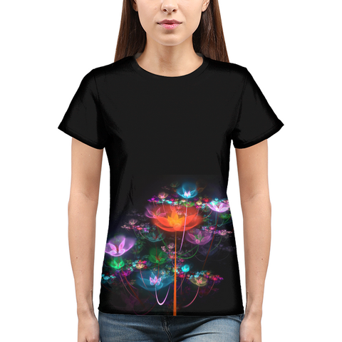 FLORAL Womens All-Over Print  T-Shirt