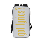 GOT LYRICS Slim Tech Backpack