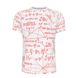 SCHOLAR RED Mens All-Over Print  T-Shirt