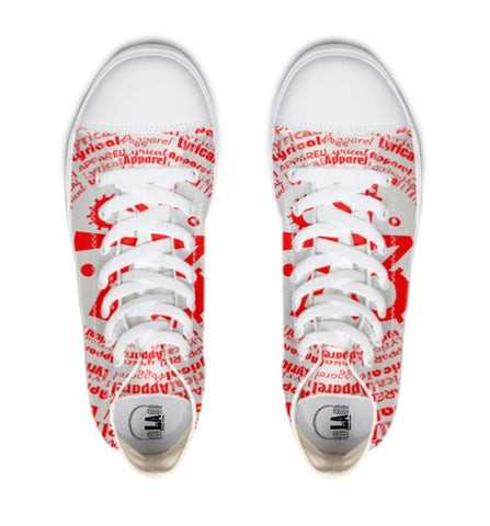 lawordsred Hightop Canvas Shoe