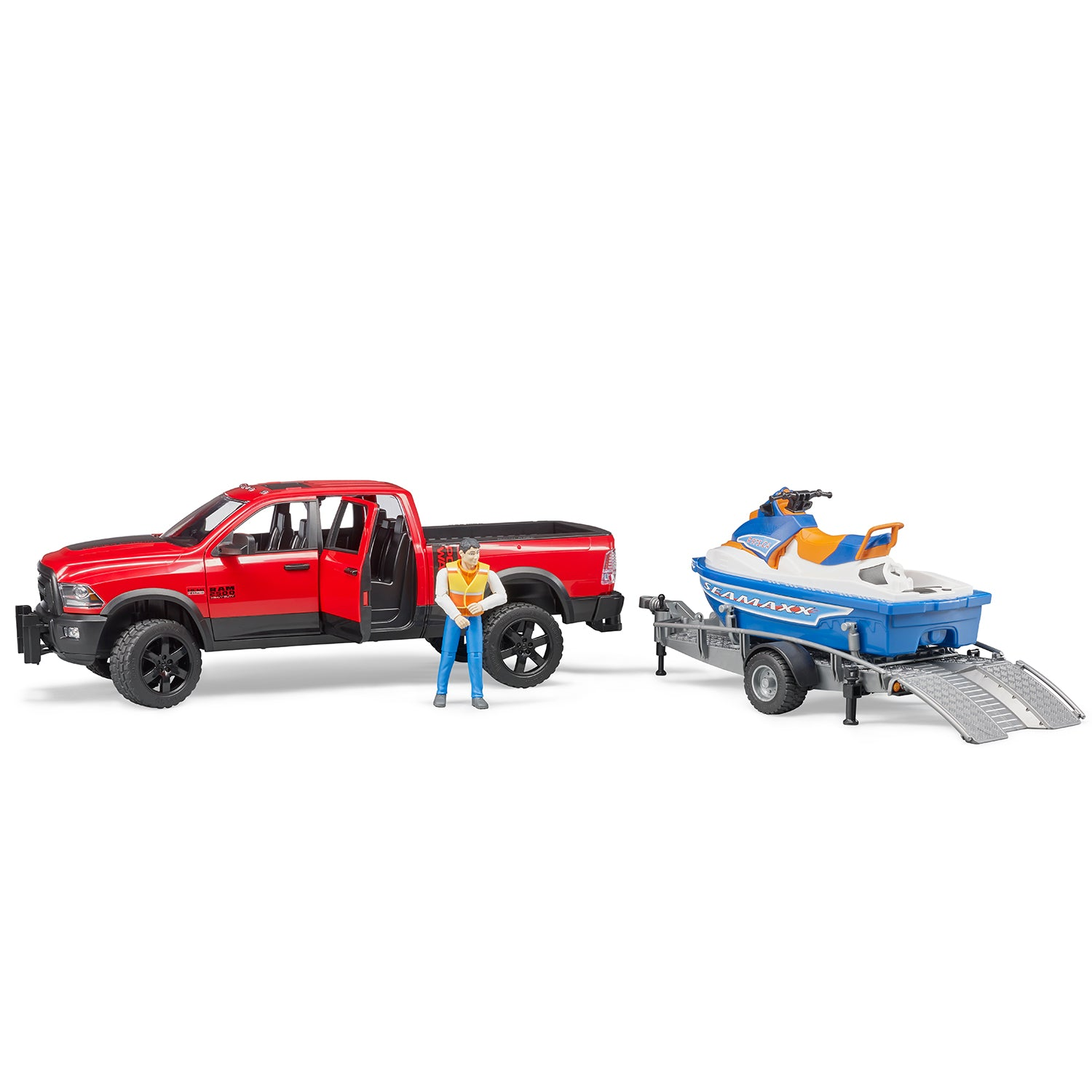 RAM 2500 Power Wagon + Trailer and Personal Water Craft with driver
