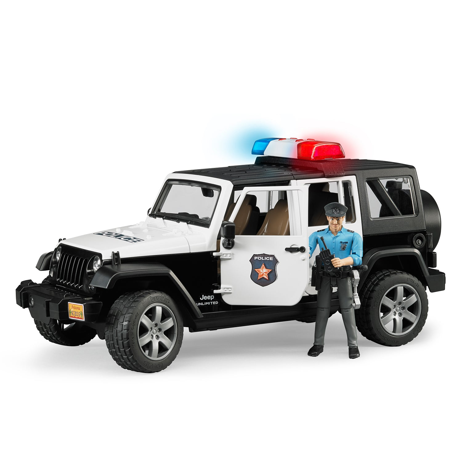 Jeep Wrangler Unlimited Rubicon Police Vehicle with Policeman and Accessories
