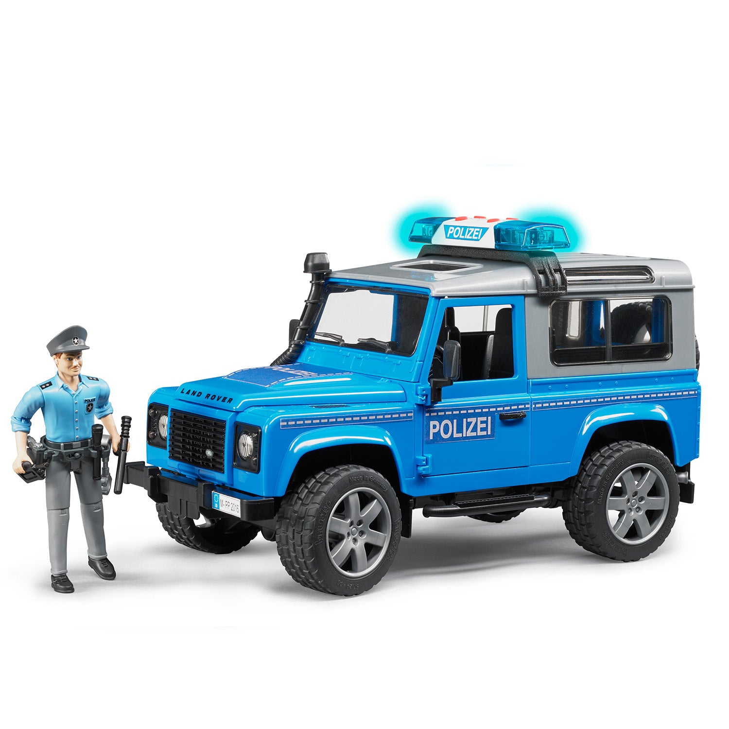 Land Rover Defender Station Wagon Police Vehicle with Policeman