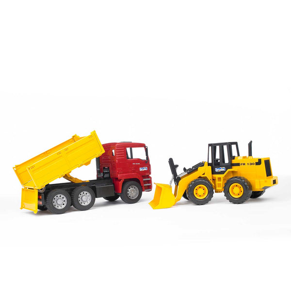 MAN TGA Construction Truck + Articulated Road Loader