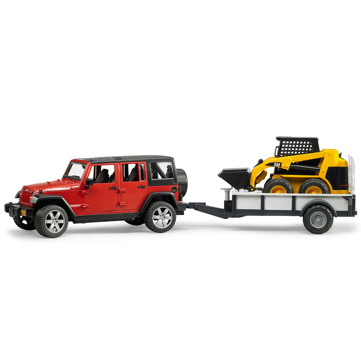 Jeep Wrangler Unlimited Rubicon with Trailer + CAT Skid Steer Loader
