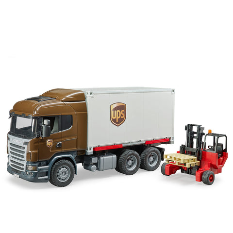 Scania R-Series UPS logistics Truck with Forklift