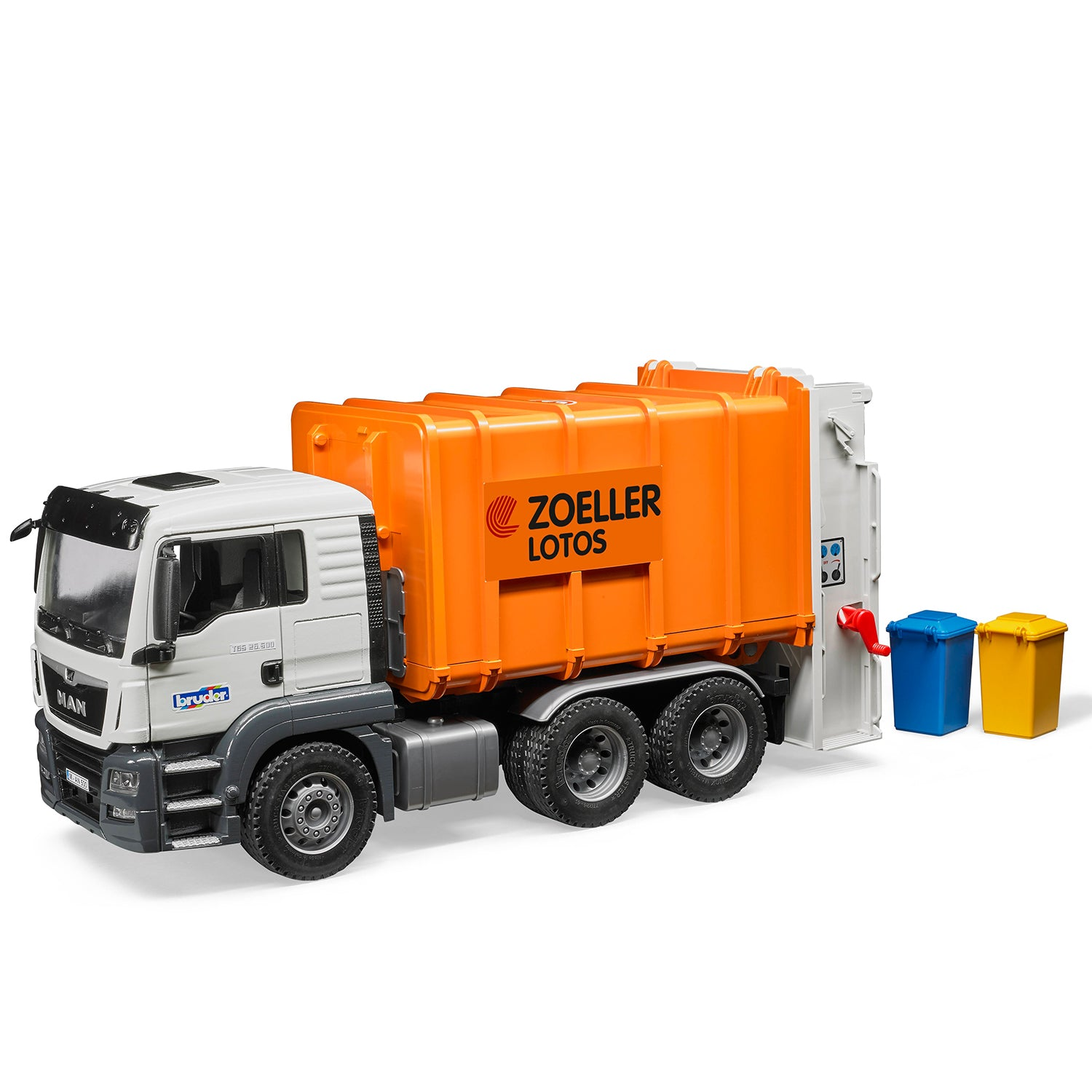 MAN TGS Rear Loading Garbage Truck (orange)