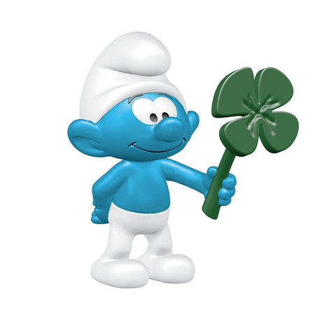 Smurf with Clover Leaf